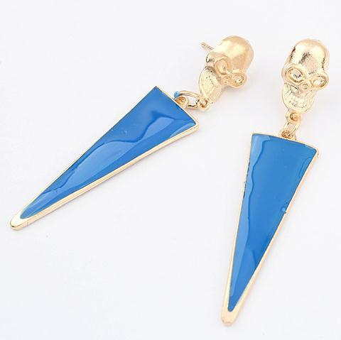 Min-order-is-10-mix-486-exaggerated-color-triangle-skull-earring-fashion-earrings-wholesale-jewelry-2013