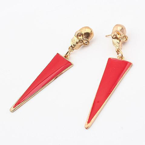 Min-order-is-10-mixed-683-exaggerated-enamel-metal-skull-triangle-earring-fashion-jewelry-wholesale-earrings